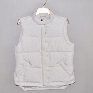 J. Crew Women's Puffer Vest in White Size Large